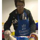 Volunteer in a food bank