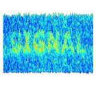 An image simulating a signal emerging from background noise