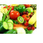 Fresh vegetables and fruit - all ajumble