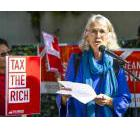 Jean Swanson at Chip Wilson's $75 million property to call for a Mansion Tax in Vancouver