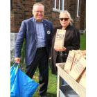 Denis Doyle and Tara Kainer, at Princess Street United Church in Kingston, were among the many volunteers handing out lunch bags on Tuesday promoting the Chew On This! campaign on International Day for the Eradication of Poverty