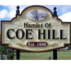Welcome sign at Coe Hill