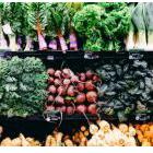 Fresh vegetables in a grocery store