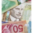 Canadian money in various denominations
