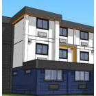 Concept art for a modular-housing development that's approved for construction near the intersection of West 59th Avenue and Heather Street