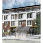 Architectural rendering of temporary modular housing for 4480 Kaslo St.
