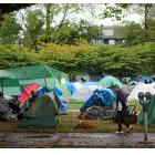 The tent city that set up in Vancouver's Oppenheimer Park, summer 2014