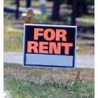A sign advertising an apartment for rent on Glenridge Avenue in St. Catharines