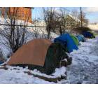 Tents - in the snow - in downtown Fredericton