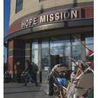 Entrance to Hope Mission in Edmonton