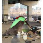 Tent city under the Gardiner Expressway