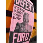 Anti-Doug Ford poster on the side of a bus