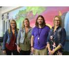 Jade Davies, Allison Leger, David Knezevic and Michelle Henderson, who work on the Oxford County Community Health Centre's new housing drop-in program, at the OCCHC offices